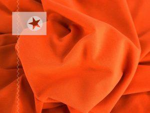 Bündchenstoff Schlauchware glatt orange