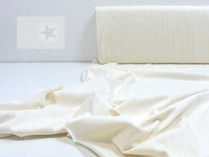 Leichter Baumwoll Jersey Stoff cremeweiß