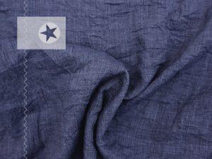 Ultraleichter Crinkle Stoff jeansblau
