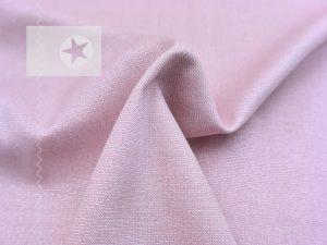Viskose Stoff rosé silber metallic