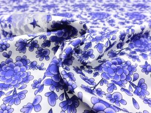 Gucci Seide Baumwolle Made in Italy weiß blau