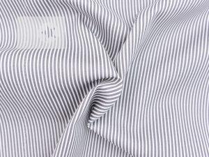 Baumwollstoff Streifen bedruckt taupe