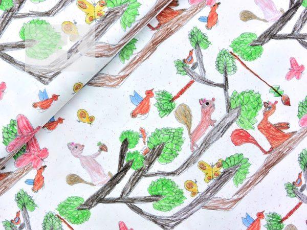 Baumwoll Jersey Stoff Kinder Gemälde