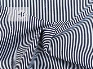 Baumwollstoff Streifen bedruckt dunkelblau