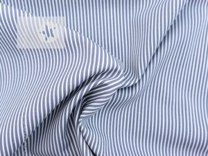 Baumwollstoff Streifen bedruckt grau