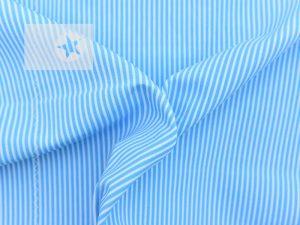 Baumwollstoff Streifen bedruckt türkisblau