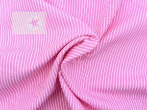Baumwollstoff Streifen bedruckt rosa