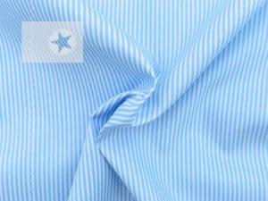 Baumwollstoff Streifen bedruckt hellblau