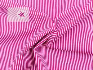 Baumwollstoff Streifen bedruckt pink