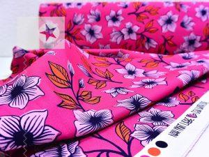 Canvas Hamburger Liebe Blumen pink