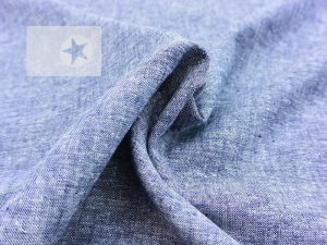 Leinen Baumwolle Jeansoptik blau