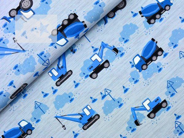 Hilco Baumwoll Jersey Baustelle grau blau
