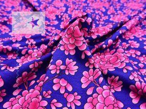 GUCCI Viskose Jersey Blumen blau pink