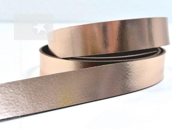 1 Metallic Lederriemen 2,5 cm roségold