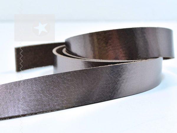 1 Metallic Lederriemen 2,5 cm bronze