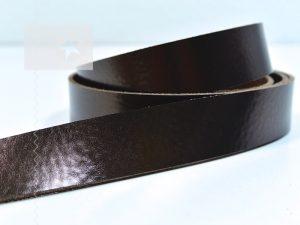 1 Metallic Lederriemen 2,5 cm kupferbraun