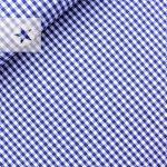 Baumwollstoff Vichy Karo dunkelblau