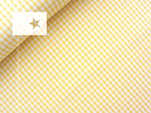 Baumwollstoff Vichy Karo gelb