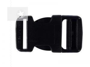 Steckschnalle 30 mm Kunststoff schwarz