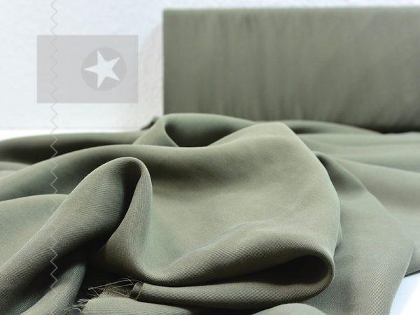 Tencel Stoff für Kleider und Blusen khaki