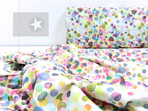 Ultraleichter Tuch Stoff aus Baumwolle happy dots