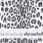 Vorbestellung #leokannwas Canvas Stoff Leo Print mystic gray