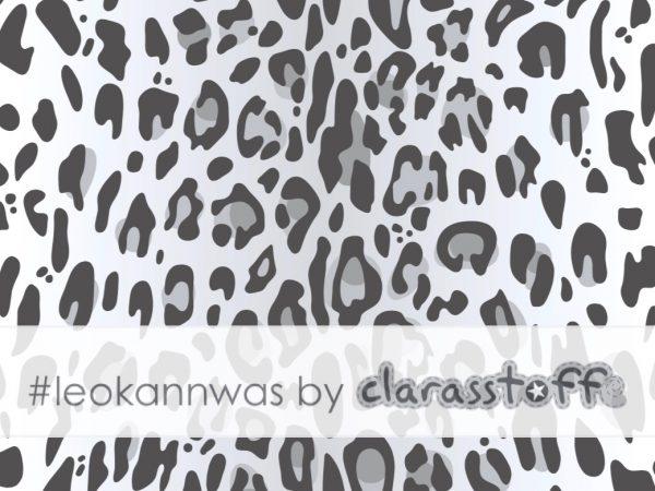 #leokannwas Canvas Stoff Leo Print mystic gray