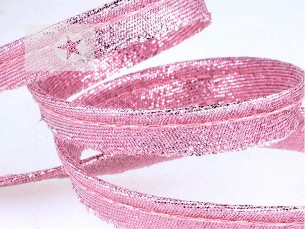 Paspel Paspelband rosa metallic