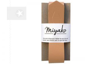 Miyako Taschengriff Furoshiki Leder sable