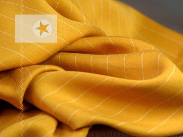 Meet Milk Tencel Pin Stripe Twill amber
