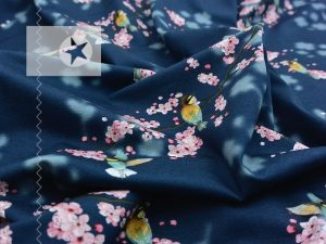 Modal Jersey Kirschblüte blau