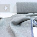 Leinenstoff gewaschen light grey