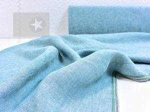 Leinenstoff gewaschen aquamarine