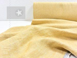 Leinenstoff gewaschen mustard
