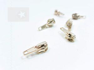 Reißverschluss Schieber metallisiert gold