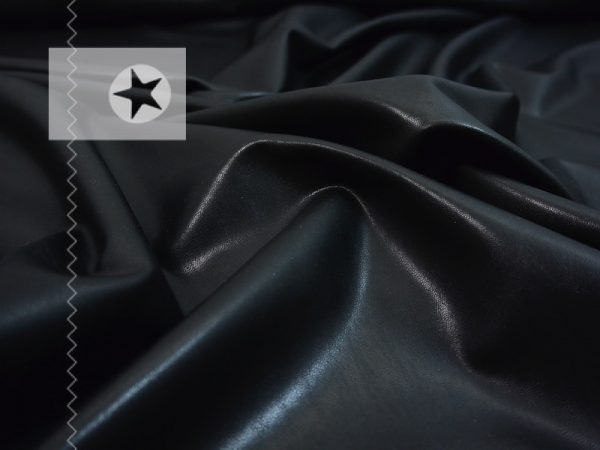 Leichtes Stretch Kunstleder Lederimitat schwarz