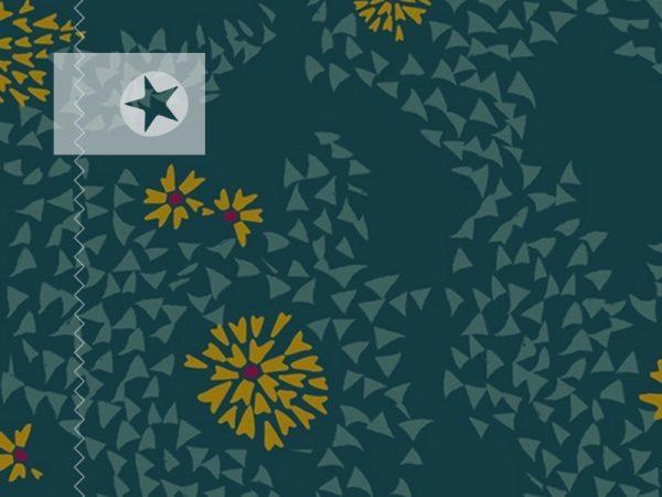 Art Gallery Baumwolle Dandelion dunkelgrün