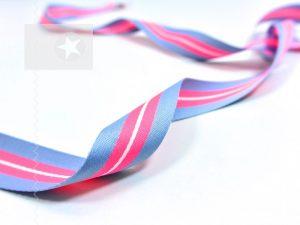 Weiches Ripsband mit Streifen neon pink