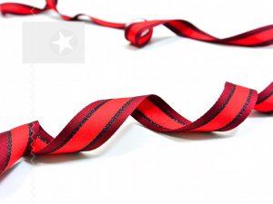 Weiches Ripsband mit Streifen rot schwarz