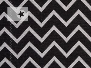 Jacquard Strick Mats Chevron almost black