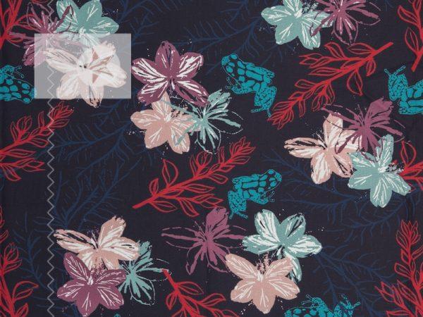 Baumwoll Satin Wildflower by Lila-Lotta