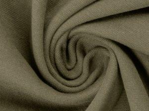 Glatter Bündchenstoff khaki