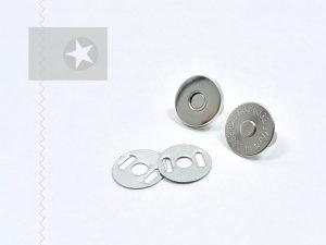 Magnetverschluss nähfrei silber