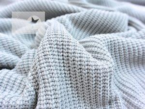 Baumwoll Grobstrick Vintage Look grey