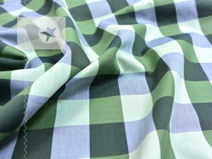 Dry Oilskin Cotton Lining Green Squares