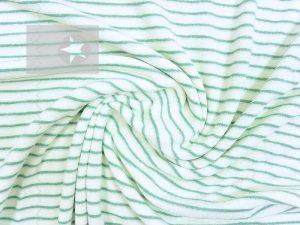 Baumwoll Frottee Stoff Streifen mint