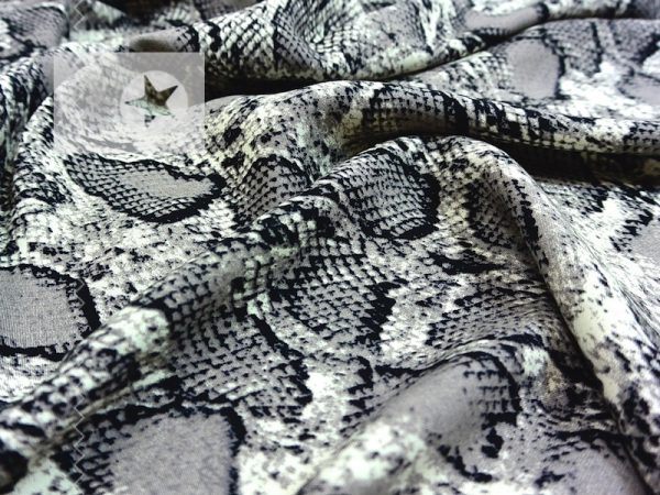 Viskose Stoff Snake Print taupe