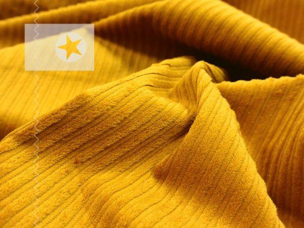 Breitcord elastisch Cord Stoff mustard