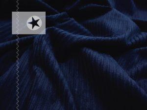 Breitcord elastisch Cord Stoff navy