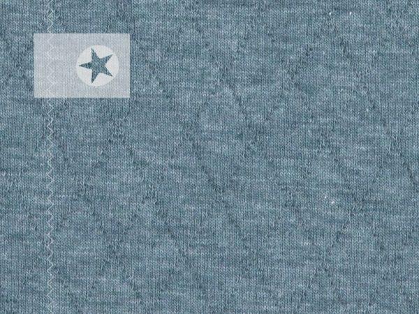 Steppsweat Steppstoff graublau meliert